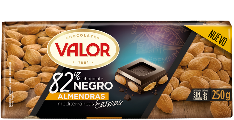 Tableta de chocolate al 82%